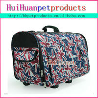 Collapsible design pet dog carrier with wheels
