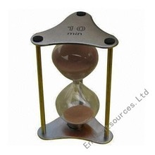 Large hourglass, brass antique hourglass sand timer