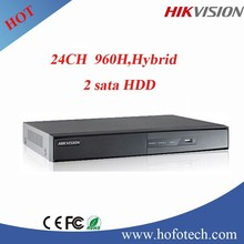 Hikvison 24ch 960h wd1 dvr, hybird digital video recorder support 2HDD