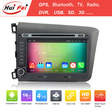 New Coming Touch Screen Car DVD Player For Honda Civic From Hui Fei Android 4.4 Car DVD With Quad-core RK3188