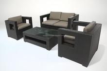 BORA PE Rattan Sofa Set 4P Steel Outdoor furniture waterproof CE