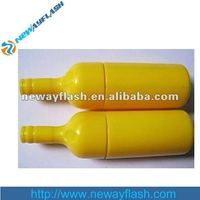fancy design bottle shape plastic 8gb usb flash drives