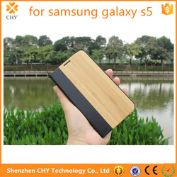alibaba express wood pu leather wallet flip stand phone case cover for samsung galaxy s5