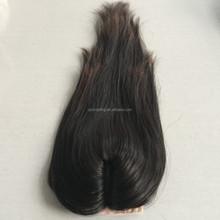 2015 best selling no tangle&shedding mongolian virgin hair silk base lace closure