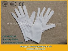 Factory outlet cotton military white gloves
