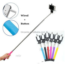 New Product for 2015 Monopod Selfie Stick Handheld Wired Remote for smart phone and digital camera