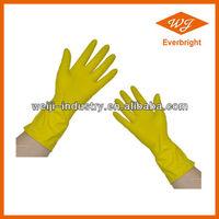 Natural latex household glove/rubber dish washing gloves/gardon rubber gloves