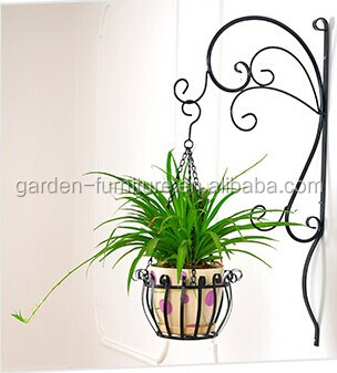 Garden decor metal wall plant pot hanging basket pots for Decoration jardin metal