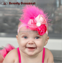 Colorful and lovely beautiful baby 10 color hair with hair hoop feather hair band