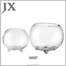 round glass fish tank with 3legs glass fish bowl for sale