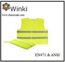EN2041 Certificate 2013 New Style Safety Vest With Pouch