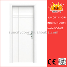 Sun City white painting pvc internal door SC-P052