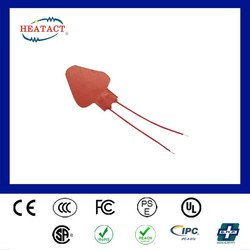 Taiwan customized electric thermal fuse silicone rubber pad heater