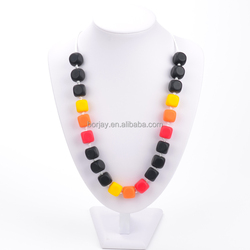 Fashion jewelry Baby Silicone Teething Necklace hot new product for 2015 pendant