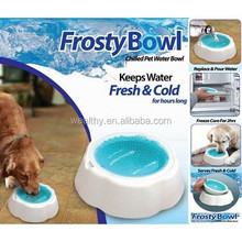 New style plastic frosty chilled pet water bowl