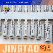 Plastic screw wall plug, ground anchor