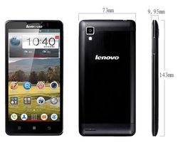 Lenovo P780 5 inch IPS 8mp Android 4.2 Multi language White Black MTK6589 Quad Core 3G Smart Phone 4000mah Lenovo P780