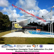 PVDF Tensile Structure Tensile Fabric Structure swimming pool, car packing and Hotel gateST-11