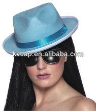 galinha partido chapéu gangster feminino vestido dos homens fantasia de feltro
