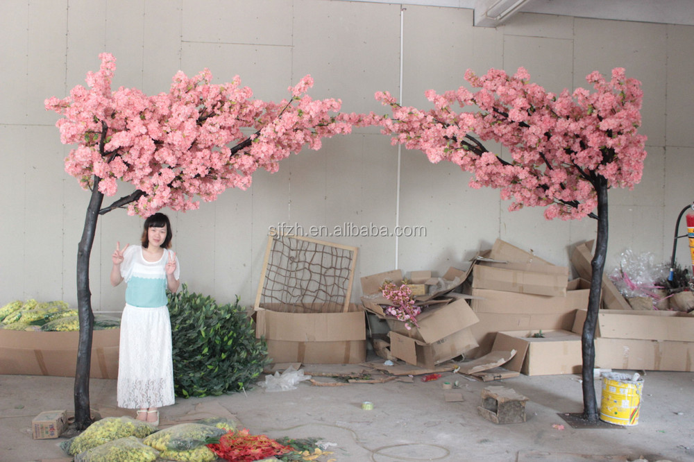 Wholesale 8ft pink wedding arch for garden decoration artificial artificial cherry blossom arch at table centerpiece decoration wedding flower arch img0905g mightylinksfo