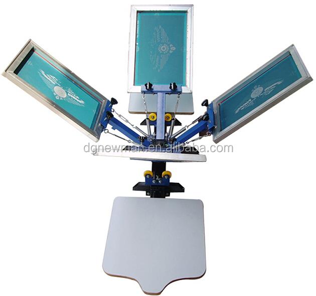 NS402-S manual rotary table top 4 color 2 print bed screen printer DIY ...
