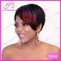 baratos rojizo de relieve corto pelucas de pelo natural para las mujeres negro 100 humanos pelucas de venta
