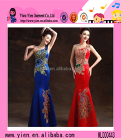 2015 China Style Backless Sexy Party Dress Fashion Single Shoulder Slim Ladies Evening Banquet Dress