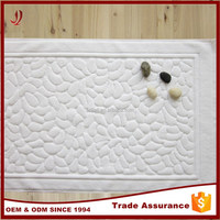 2015 fashion good quality woven floor towels white hotel bath mat