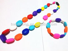 New classical natural silicone rubber beads necklaces
