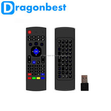 Multifunction 2.4GHz Air Mouse MX3 Mini Wireless Keyboard & Infrared Remote Control & 3-Gyro