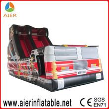 Popular inflatable kids fire truck slide