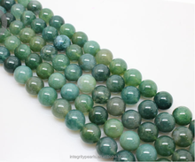 8mm Natural Green color 16 inches jewelry gemstone agate beads