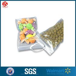 Flat Bottom Pet Food / Dried Snack / Vacuum Frozen Food Packaging Plastic Aluminum Foil Ziplock Bag