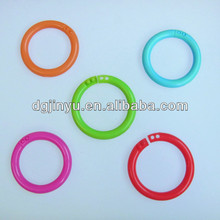 diffrent size colored plastic curtain rings