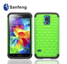 Hot sale colorful 3 in 1 hybrid mobile phone case for samsung s5 i9600