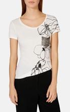 Custom design fashion quality stud beaded t-shirt tops white quality tshirt printing