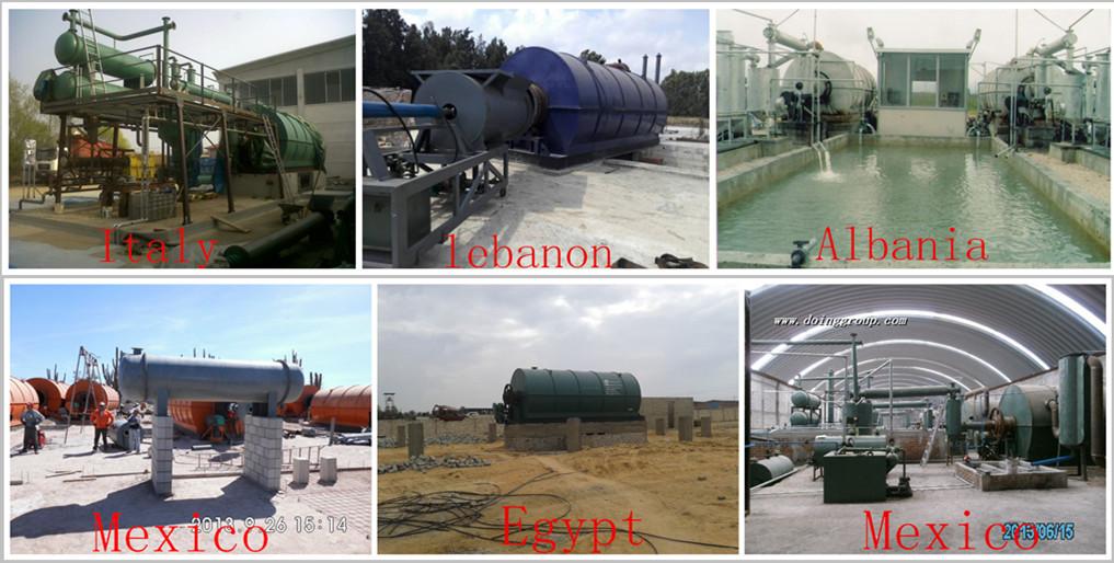 2017 déchets continue usine de pyrolyse des pneus de recyclage de pneus à l'huile en plastique à la machine diesel