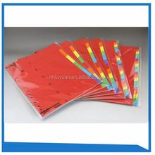 160gsm A4 size color paper index tab file divider