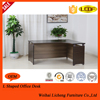 L shaped wooden office desk with wooden legs/suitable office table