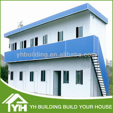 fashion light steel,sandwich panel house for construction site dormiotry,office,ready made T house