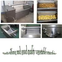 2015 brush type vegetable washing machine fruits and vegetables brush washing machine for sale (manufacturer)