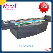 Nuocai 250*130cm stampante di grande formato, stampante flatbed uv, metallo stampante 3d per la produzione di massa