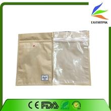 custom transparent kraft paper with zip packaging bag