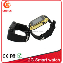 touch screen gsm watch mobile phone with 2.0mp camera and tf card
