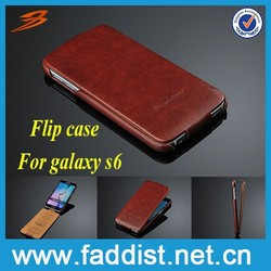 Flip leather phone case for samsung galaxy s6 case