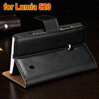 Hot Selling Luxury PU leather custom cover case for nokia 520 lumia 500pcs/lot
