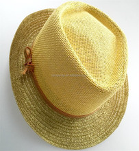 promotional hot wholesale yellow fedora fashion hats