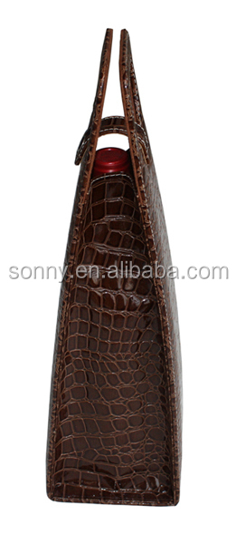 Commercial PU Leather Wine Carrier