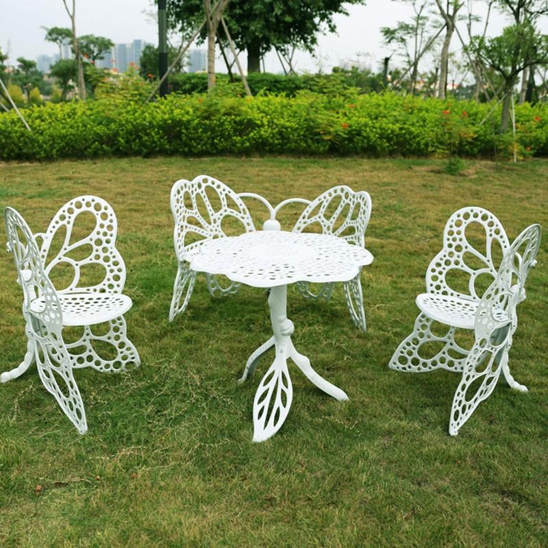 butterfly cast aluminum garden furniture white buy