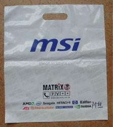 die cut plastic shopping bag supplier